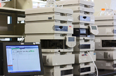 HPLC System used in Velesco Pharmacuetical Services' analytical testing laboratory during the drug development process to identify or quantify drug substance components
